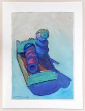 Darrell Fusaro, Good Night from Grown Ups Series Pastel Drawing