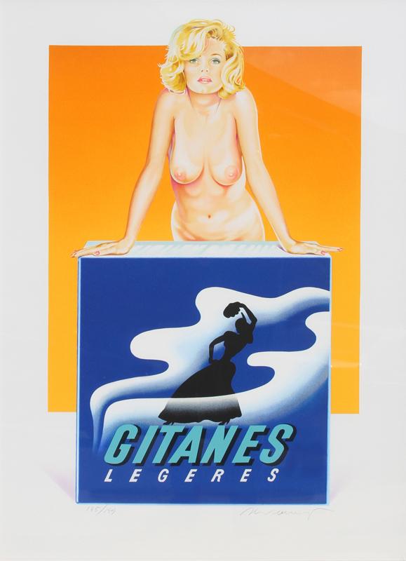 Mel Ramos, Gitanes, Lithograph
