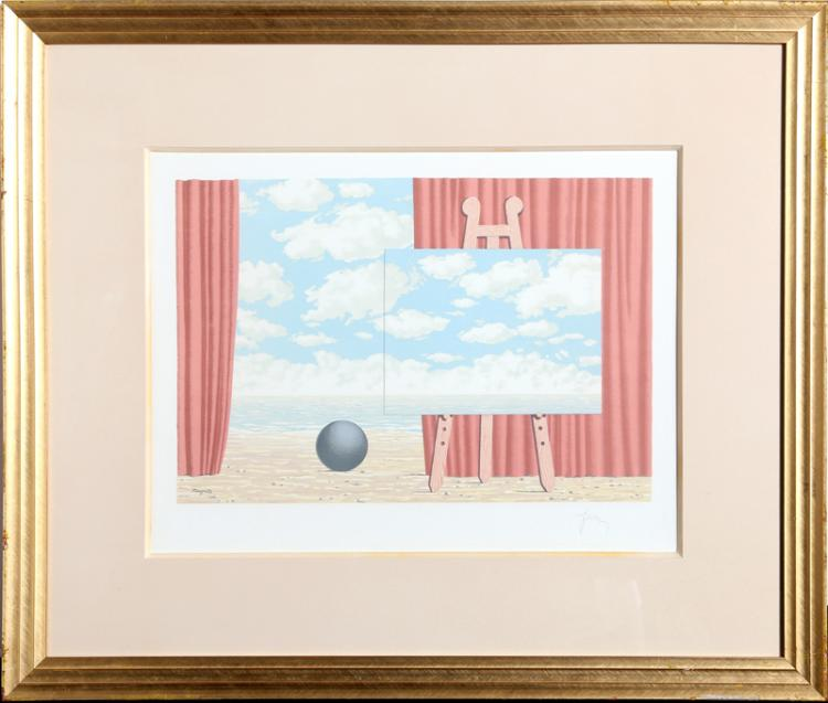 Rene Magritte, Les Enfants Trouves: la Traversee Difficile, Lithograph