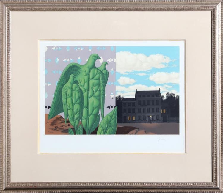 Rene Magritte, Les Grands Oiseaux sont ceux de L'ile au tresor, Lithograph