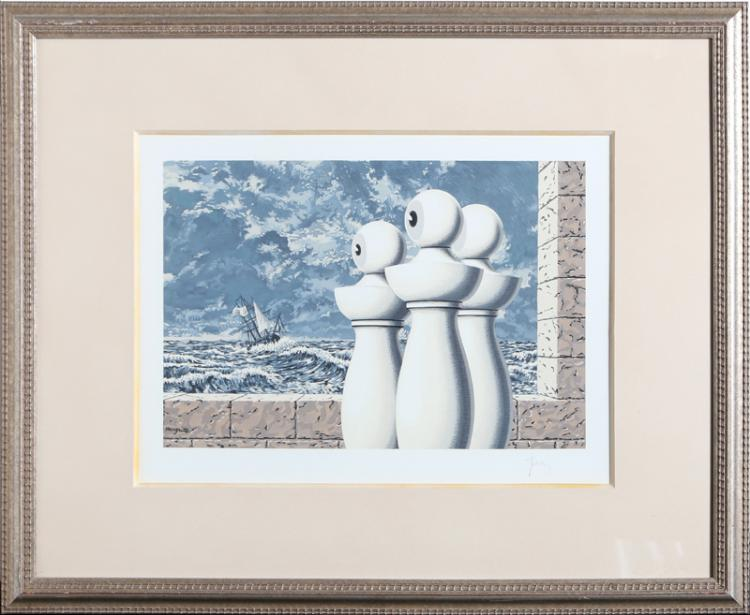Rene Magritte, La Traversee Difficile, Lithograph