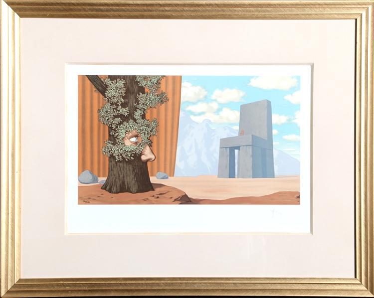 Rene Magritte, Les Claires-Voies d'un Jeune Regard Embaument, Lithograph