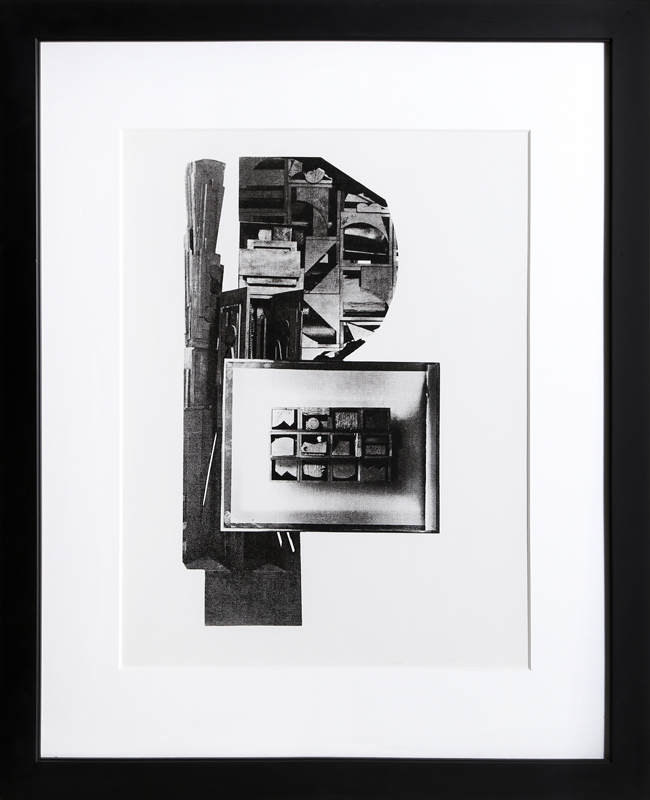 Louise Nevelson, Facades 1, Silkscreen