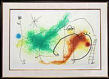 Joan Miro, Partie de Campagne IV, Aquatint Etching