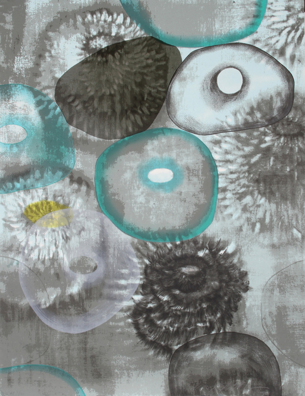 Ross Bleckner, Happiness for Instance II, 17 Color Screenprint