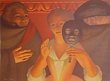George Tooker, Un Ballo en Maschera, Color Lithograph