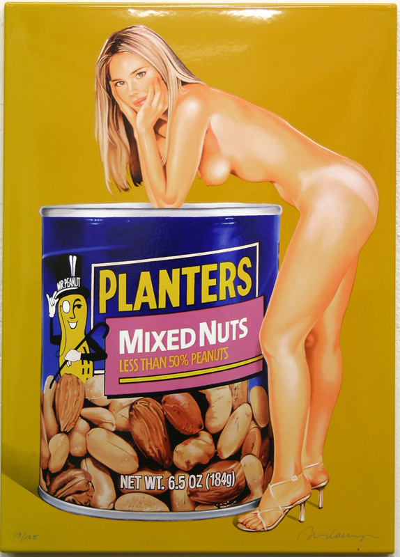 Mel Ramos, Mixed Nuts, Enamel on Steel