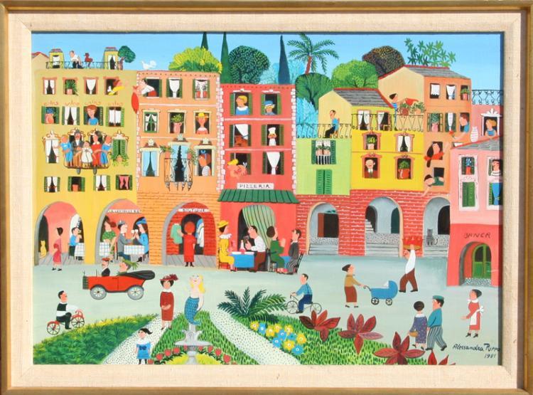 Alessandra Puppo, Portofino, Painting