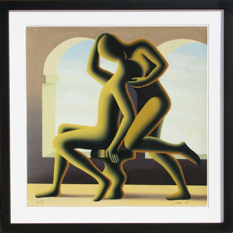 Mark Kostabi, The Kiss, Serigraph