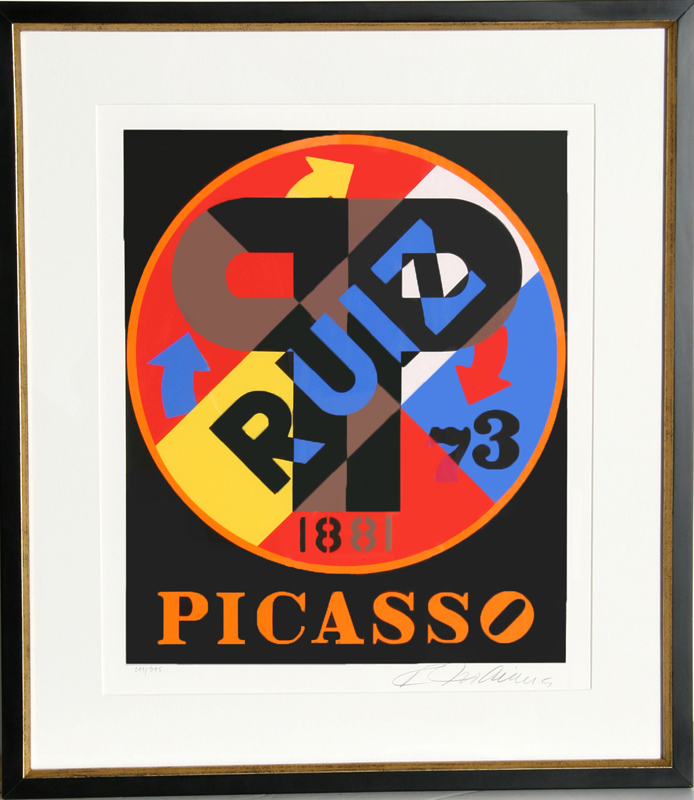 Robert Indiana, Picasso from The American Dream Portfolio, Serigraph
