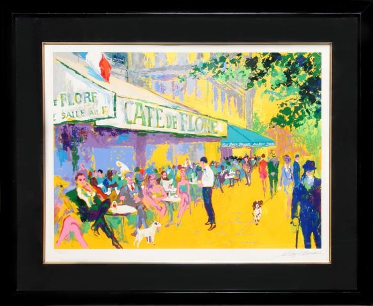 LeRoy Neiman, Cafe de Flore I, Serigraph
