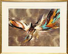 Leonardo Nierman, Untitled IV from the Cosmic Energy Suite, Lithograph