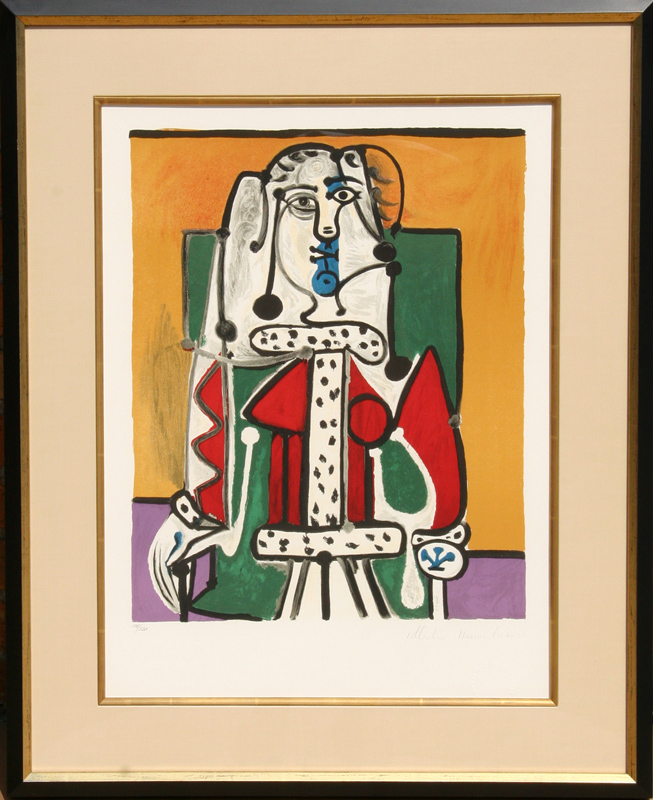 Pablo Picasso, Femme Assise a la Robe d'Hermine, Lithograph