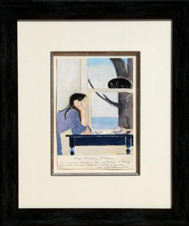 Will Barnet, Spirit of Youth, Watercolor Painting and Pastel Drawing