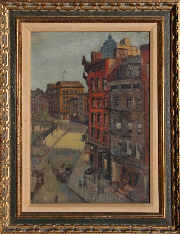 Raphael Soyer, City Street, Oil Painting