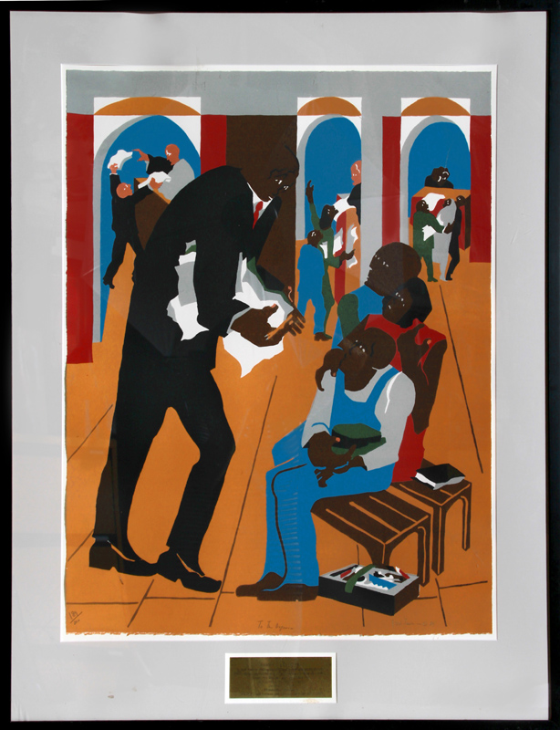 Jacob Lawrence, To The Defense, Lithograph