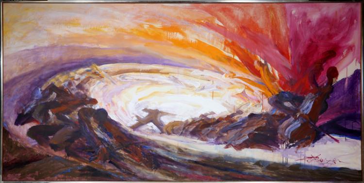 Gustav Rehberger, Orchestra, Oil Painting