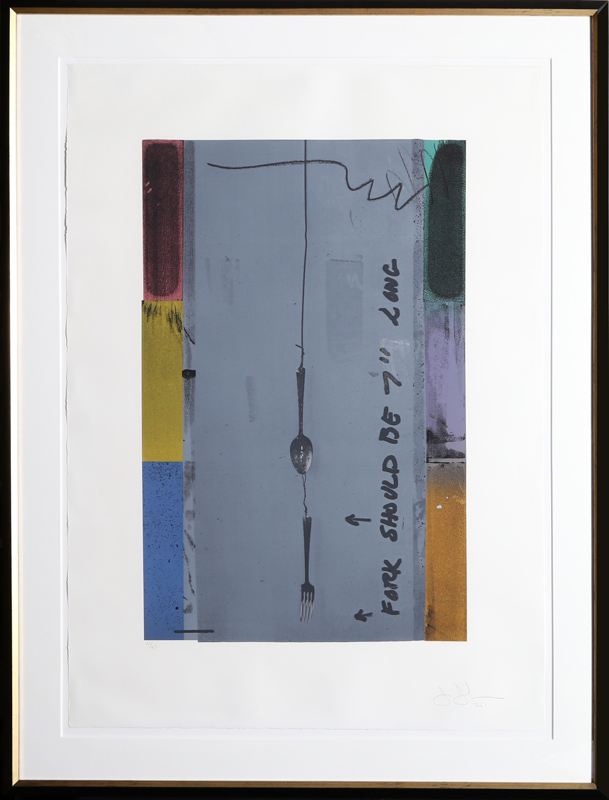 Jasper Johns, Screen Piece (Fork), Silkscreen