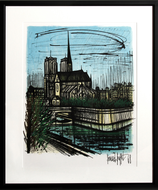 bernard buffet notre dame lithograph rh invaluable com bernard buffet prints for sale