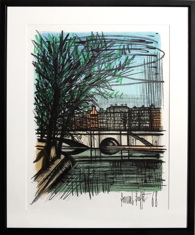 Bernard Buffet, La Seine, Lithograph