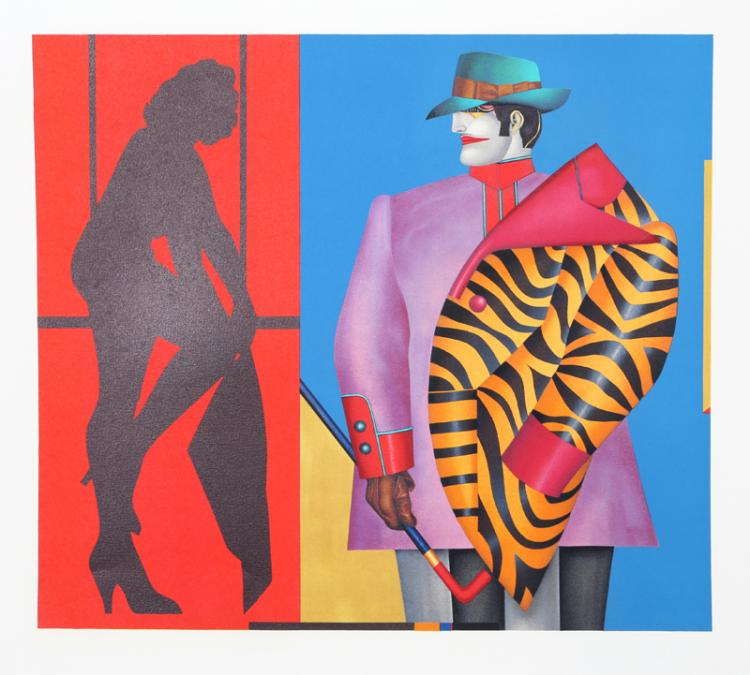 Richard Lindner, Rear Window, Lithograph
