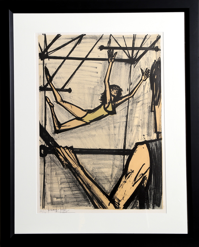 Bernard Buffet, The Trapeze Artists, Lithograph
