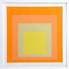 Josef Albers, Interaction of Color: Homage to the Square (Sage), Silkscreen