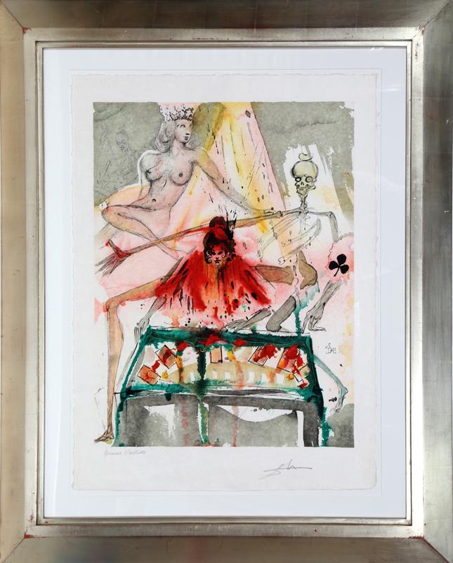 Salvador Dali, Carmen, 70-1-O, Lithograph