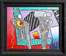 Peter Max, Timeline Dega Man, Oil Painting