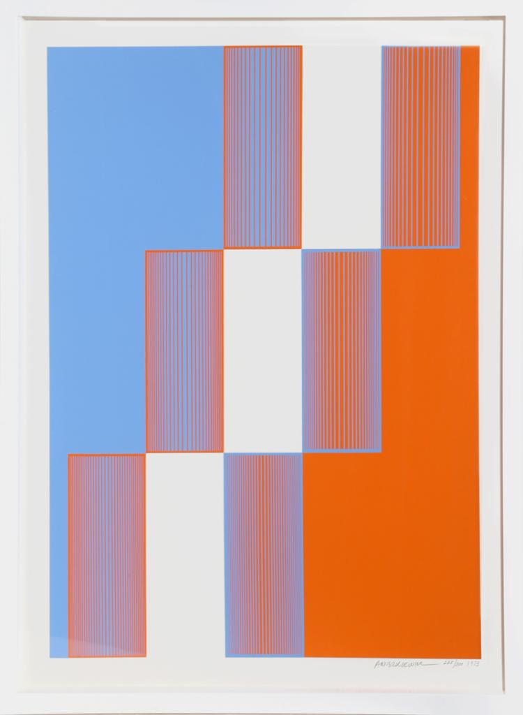 Richard Anuszkiewicz, Celebrate New York, Silkscreen