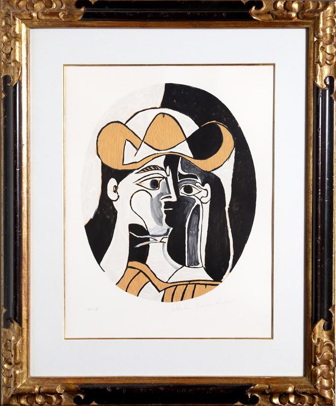 Pablo Picasso, Femme au Chapeau, Lithograph