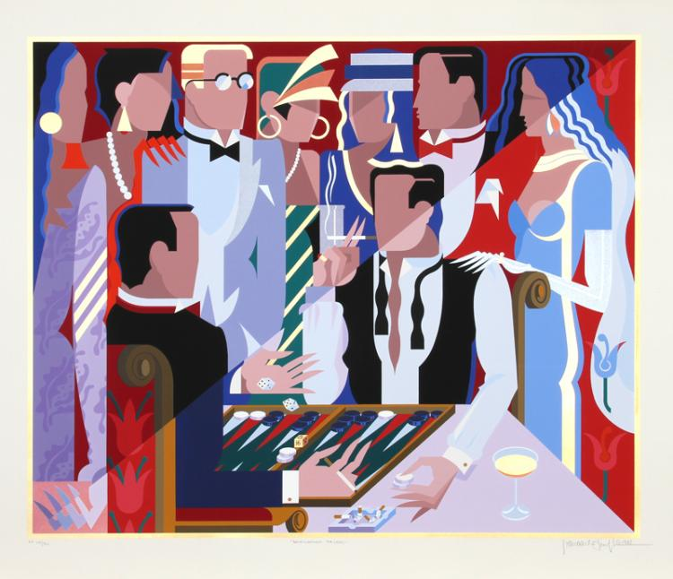 Giancarlo Impiglia, Backgammon Players, Serigraph