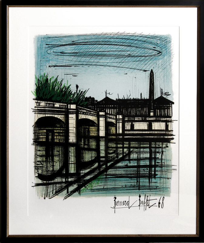 bernard buffet place de la concorde lithograph rh invaluable com bernard buffet prints for sale bernard buffet 55 prints