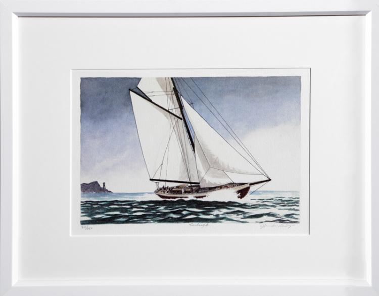 John McNulty, Sailing 4, Lithograph