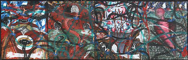 Papo Colo, Charmer, Oil Painting (Four Panels)