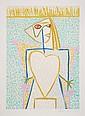 Pablo Picasso, Femme au Buste en Coeur, Lithograph