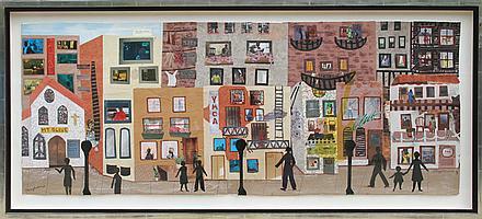 Allen Stringfellow, On This Street I, Collage