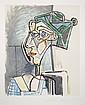 Pablo Picasso, Tete de Femme au Chignon, Lithograph