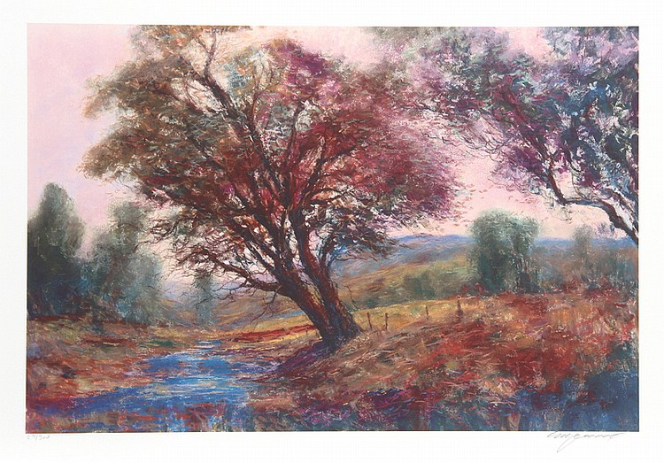 Michael Schofield, Oak Tree Creek, Lithograph