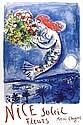 Marc Chagall, Nice, Soliel, Fleurs (La Naie des Anges), Offset Lithograph Poster