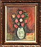 Simon Karczmar, Flower Bouquet, Oil Painting