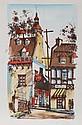 Rue de Tresor, Quebec, Watercolor Painting