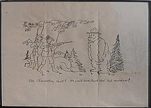 John Wayne Gacy, For Christ Sakes Shoot!... Smokey the Bear, Ink Drawing