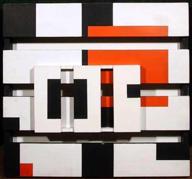 Pieter Wiegersma, Orange Square, 3-D Wood Construction