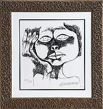 Oswaldo Guayasamin, Rosaura, Serigraph
