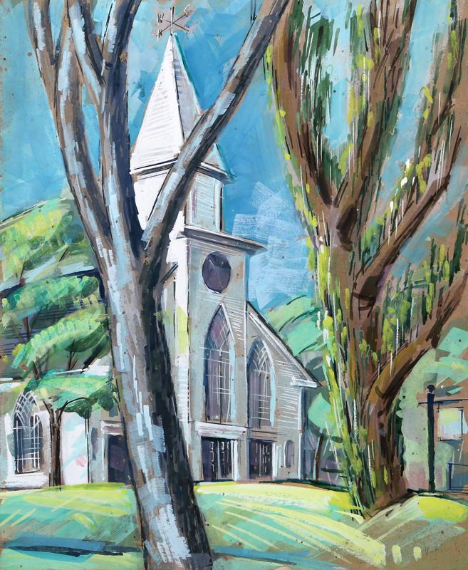 Charles Blaze Vukovich, Church, Painting