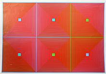 Richard Anuszkiewicz, Six Squares, Serigraph