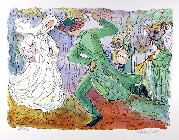 Chaim Goldberg, Lovers Dance, Lithograph