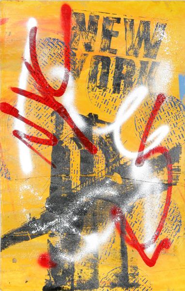 Bobby Hill, New York, Silkscreen and Acrylic Painting