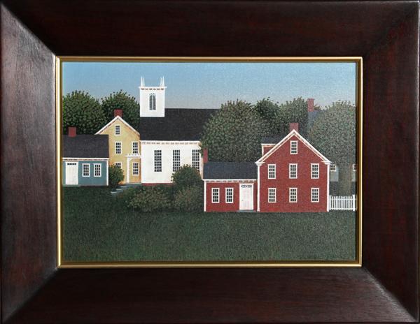 Theodore Jeremenko, The Red House, Acrylic Painting